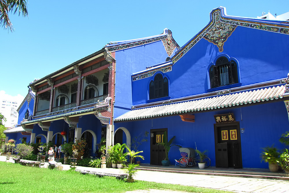 Cheong Fatt Sze Mansion also goes by the name of the 'Blue Mansion.' — Photo courtesy of Hotels.com