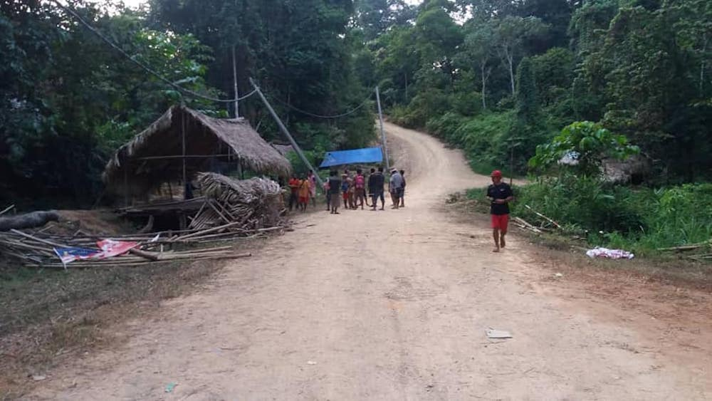 The Orang Asli blockade in Gua Musang, Kelantan was allegedly destroyed by a durian plantation company on August 4, 2018. — Picture via Facebook/SitiKasim