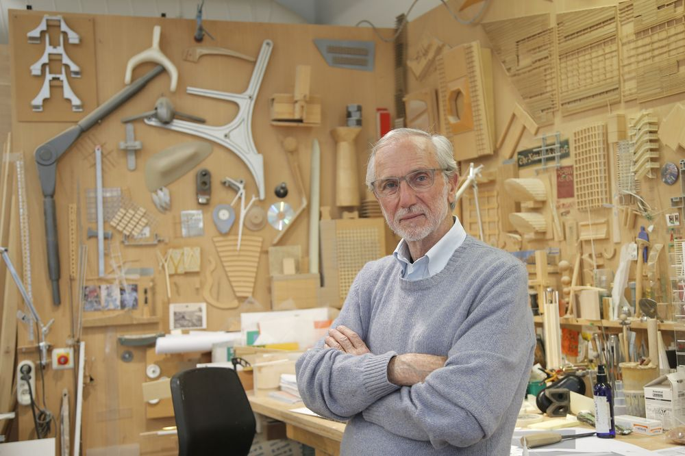Italian architect Renzo Piano in his Paris workshop in 2015. — AFP Relaxnews pic
