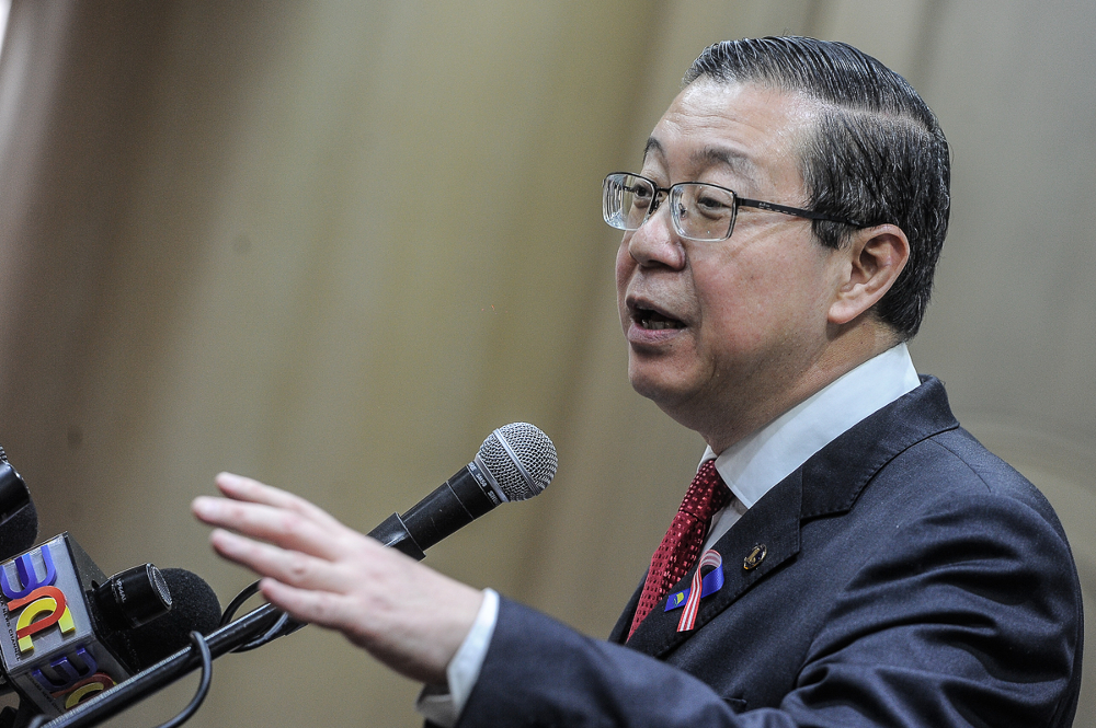 Finance Minister Lim Guan Eng said the list of consumer goods and services under the new sales and service tax (SST) introduced September clearly exempted prepaid card reloads. — Picture by Shafwan Zaidon