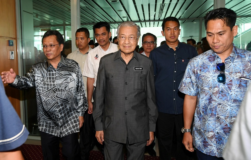 Shafie (left) said that he trusted that Dr Mahathir meant well in proposing his name and had considered the current political scenario when deciding. — Bernama pic