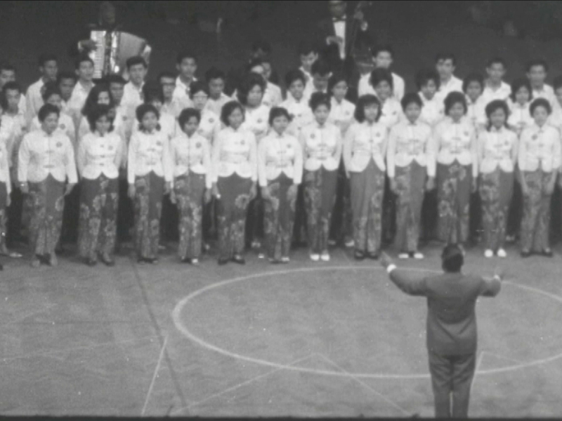 A performance in September 1963 as part of the Malaysia Day festivities. — Screen capture via Reuters archive footage