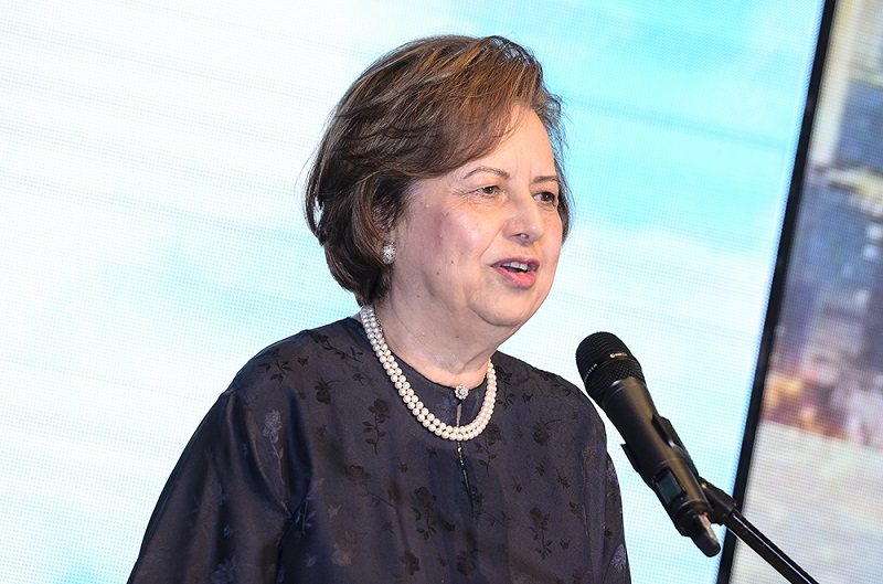 PNB chairman Tan Sri Zeti Akhtar Aziz speaks during the launch of ASNB's two new variable price unit trust funds in Kuala Lumpur September 27, 2018. — Picture by Miera Zulyana
