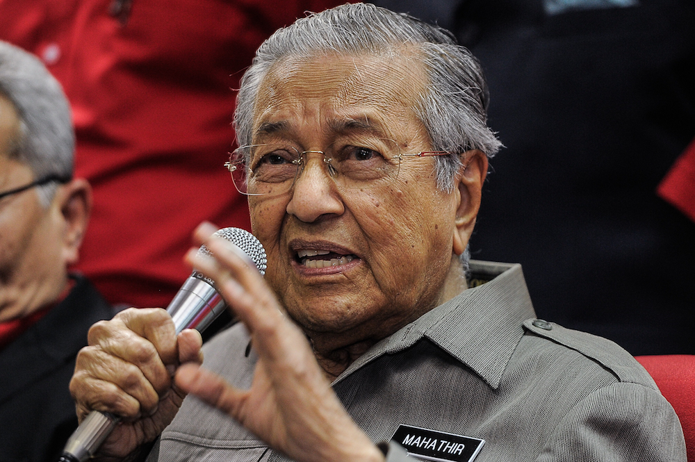 Prime Minister Tun Dr Mahathir Mohamad  said farmers, smallholders and fishermen need to see their potential to produce higher yields, which in turn increases their income. — Picture by Shafwan Zaidon