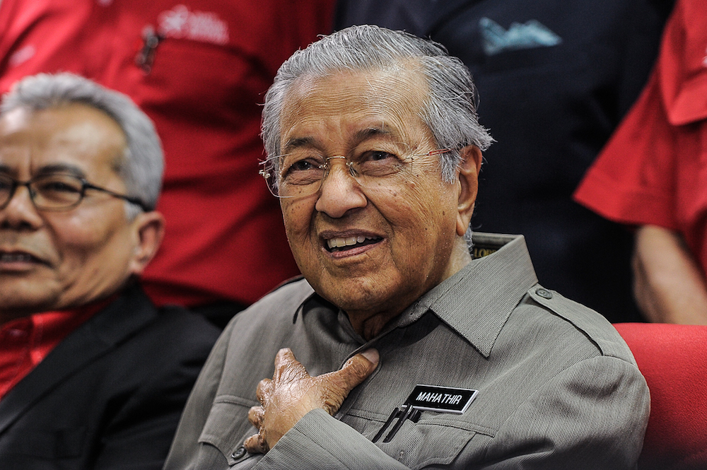 Dr Mahathir has seemingly softened his stance towards 'political frogs'. — Picture by Shafwan Zaidon