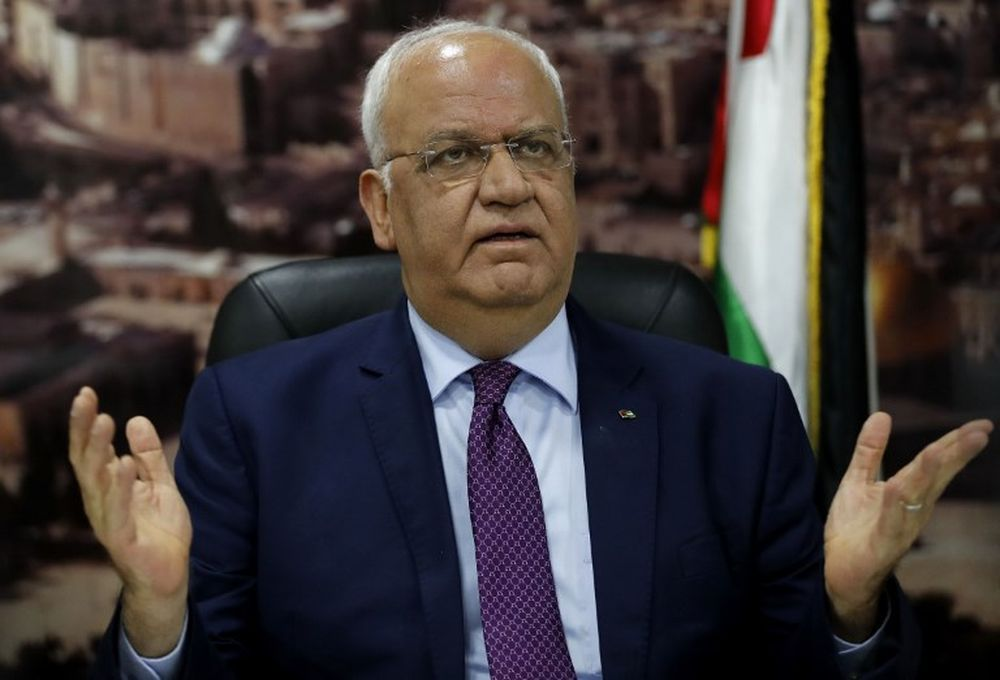 Saeb Erekat has been a key figure in Palestinian politics for decades. — AFP pic