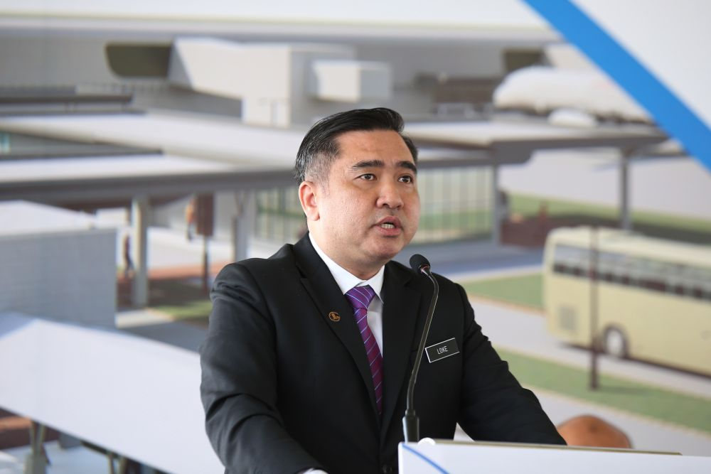 Transport Minister Anthony Loke Siew Fook also reminded them that JPJ has detailed information on their identities. ― Picture by Azinuddin Ghazali