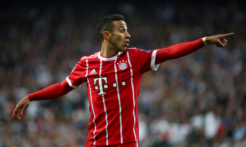 Liverpool have agreed a transfer fee worth £20 million (RM106.6 million) plus £5 million in add-ons with Bayern for Thiago Alcantara, who is expected to sign a four-year deal with Liverpool. — Reuters pic