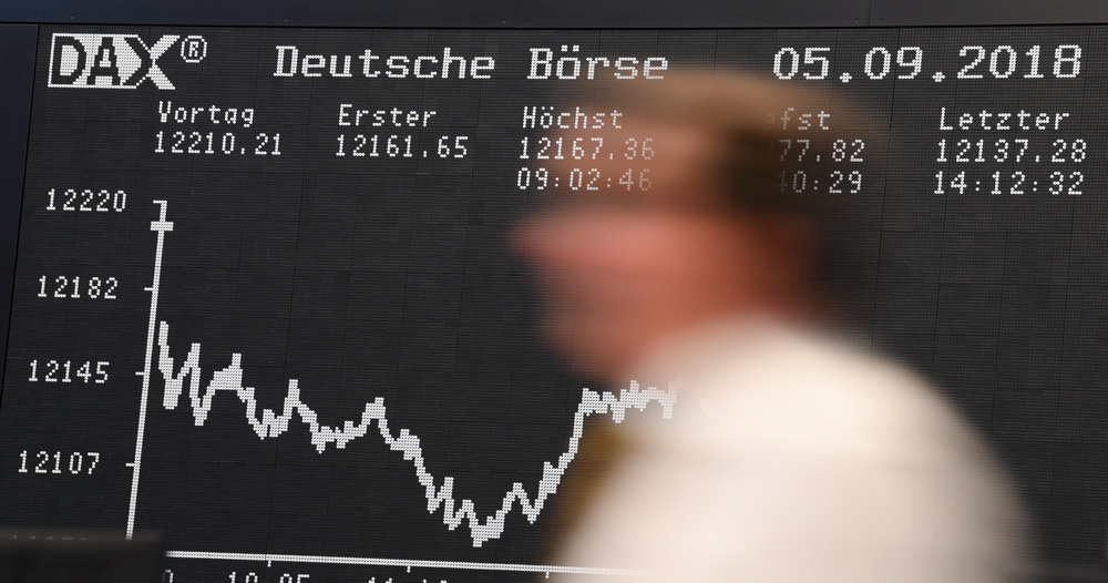 The display board of the DAX in Frankfurt September 5, 2018. — AFP pic
