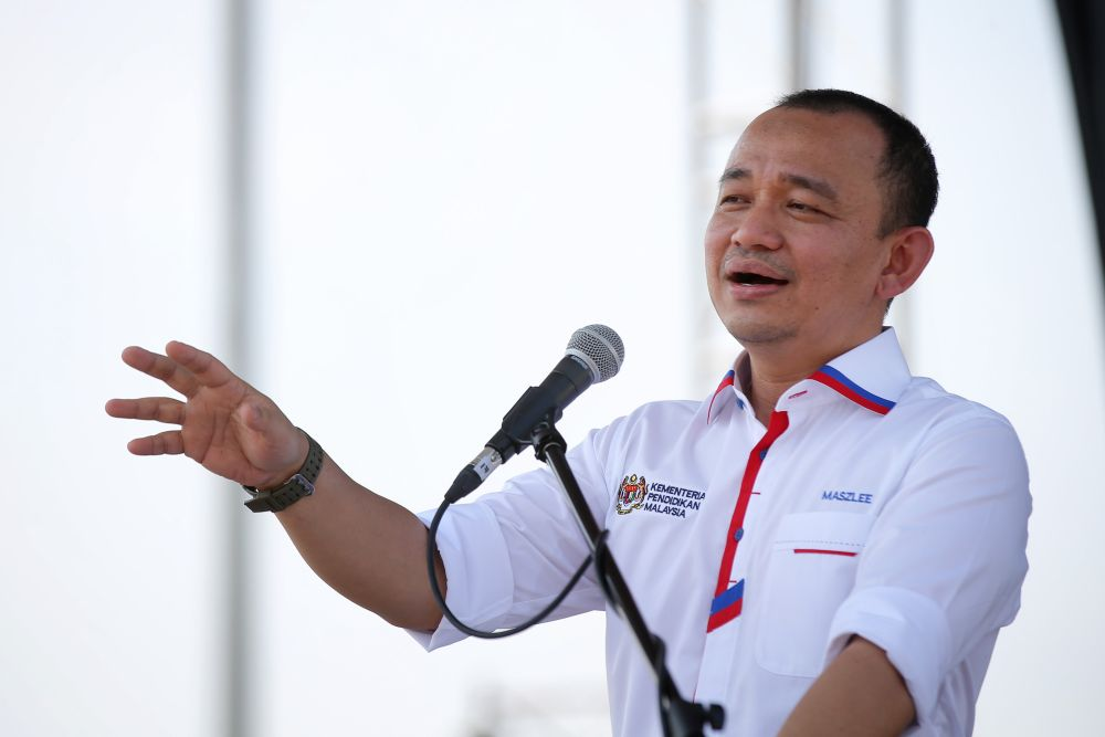 Education Minister Maszlee Malik speaks at the launch of Malaysia Unesco Day 2018 in Ipoh. ― Picture by Marcus Pheong