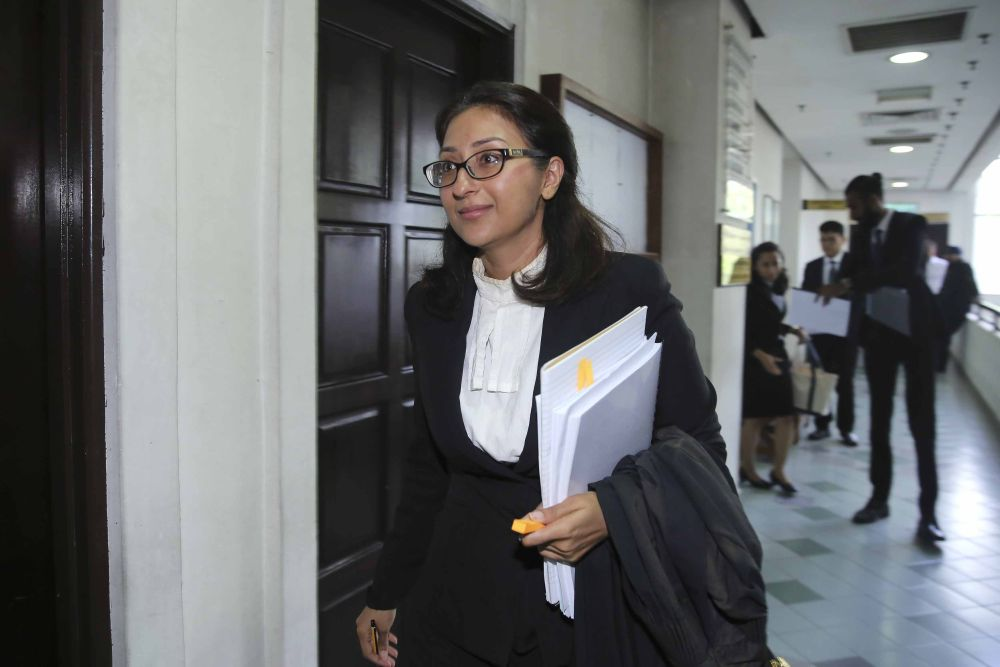 Laywer Sangeet Kaur Deo is seen at the Shah Alam High Court on September 25, 2018. ― Picture by Yusof Mat Isa