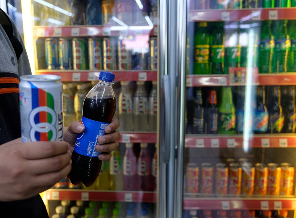 Thailand's soda tax increases according to the sugar content in the drinks, a model which is seen as encouraging sugar reduction by drinks manufacturers. ― Bernama pic