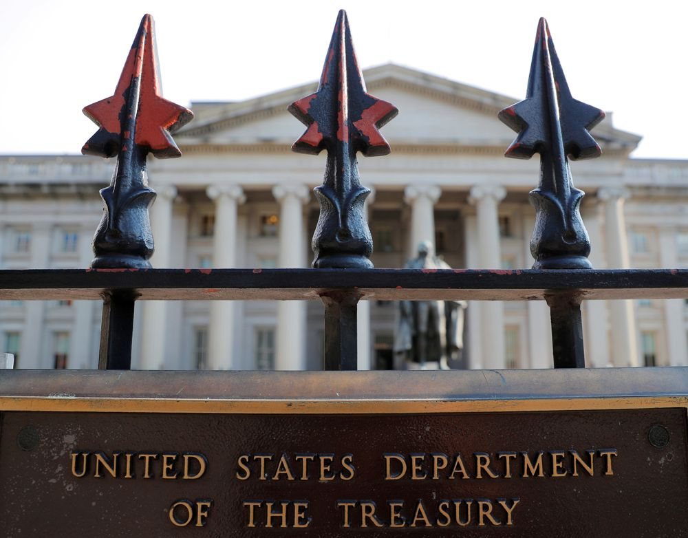 The fiscal year-to-date deficit at the end of March totaled US$1.7 trillion, compared to US$743 billion at the end of March 2020, according to the monthly Treasury report. — Reuters pic