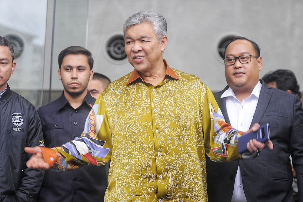 Last week, the MACC summoned Ahmad Zahid for three straight days of marathon questioning over alleged funds misappropriation at a charity run by his family. — Picture by Shafwan Zaidon