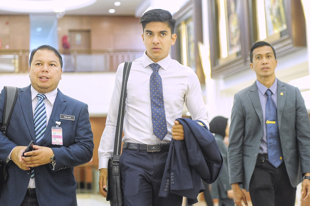 Syed Saddiq said that the initiative was part of the 'Yellow Ribbon' campaign implemented by his ministry, aimed at changing the public's perception of former convicts. — Picture by Shafwan Zaidon