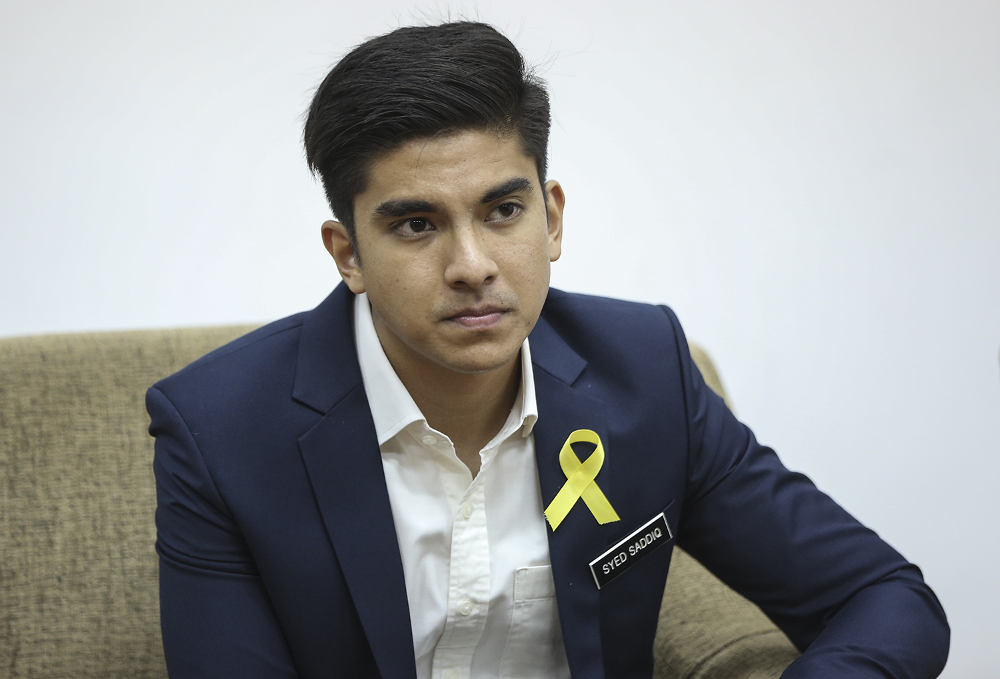 Minister of Youth and Sports Syed Saddiq Syed Abdul Rahman youth programme that will replace the National Civics Bureau (BTN) and National Service programmes will cost around RM70 million, cheaper than the latter programmes. — Picture by Azneal Ishak