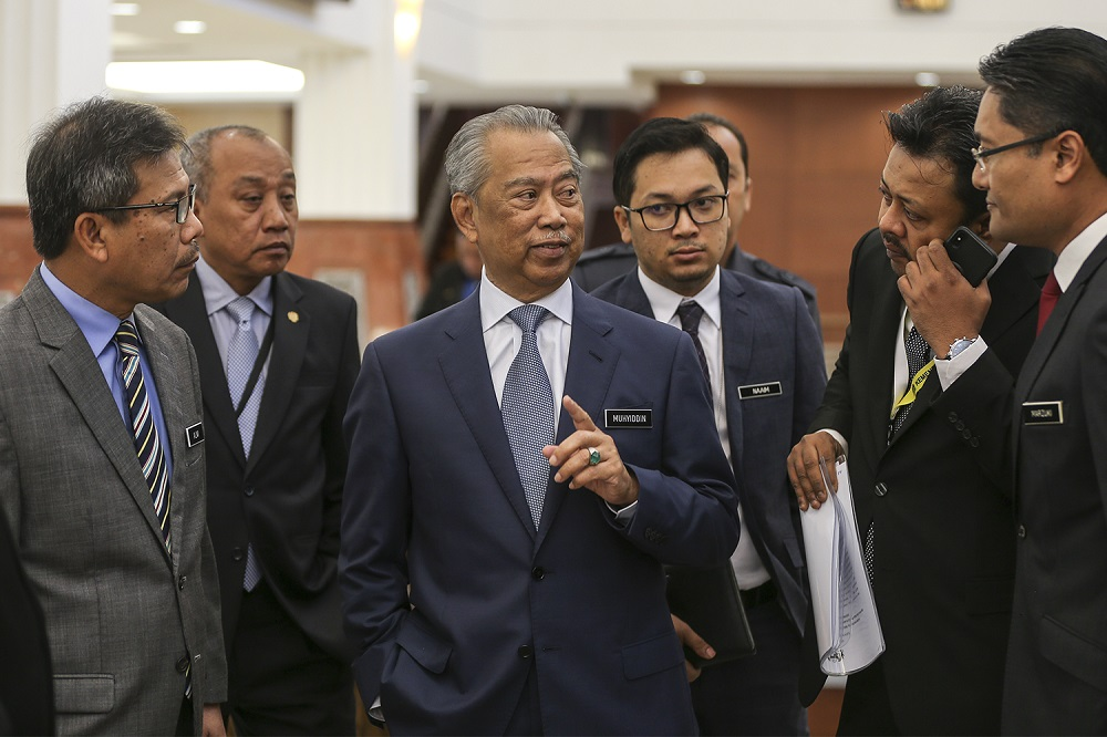 Home Minister Tan Sri Muhyiddin Yassin at Parliament in Kuala Lumpur October 24, 2018. — Picture by Azneal Ishak