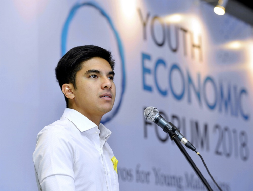 Youth and Sports Minister Syed Saddiq Abd Rahman speaks at the Youth Economic Forum 2018 at the Securities Commission in Kuala Lumpur October 27, 2018. — Picture by Ham Abu Bakar
