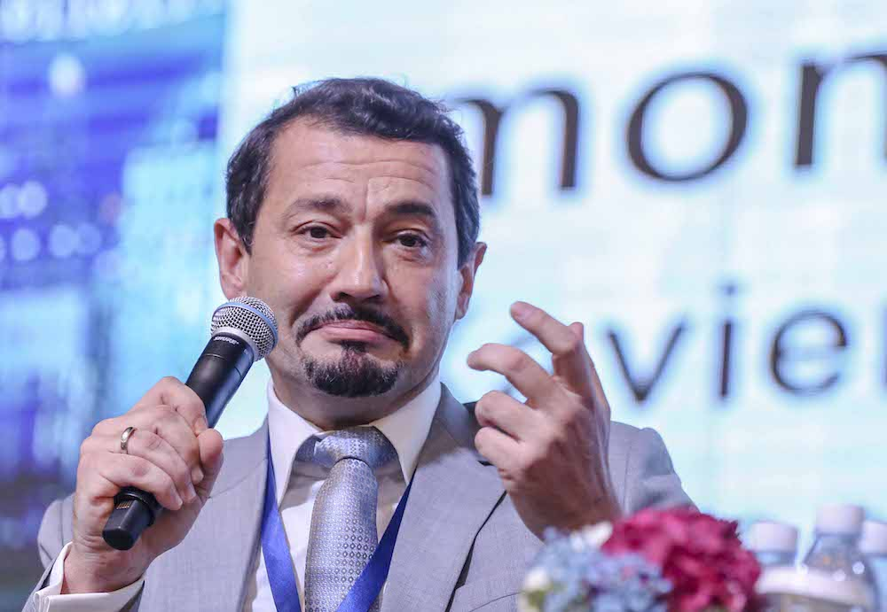 Xavier Justo speaks at the 10th International Conference for Financial Crime and Terrorism Financing in Kuala Lumpur October 31, 2018. — Picture by Firdaus Latif