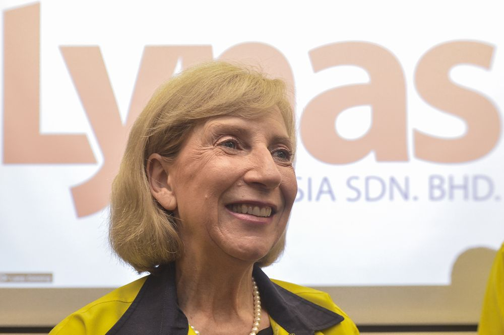 Lynas CEO Amanda Lacaze, whose company was allowed to operate for six more months, is confident that the company would be able to meet Malaysia's conditions. — Picture by Mukhriz Hazim