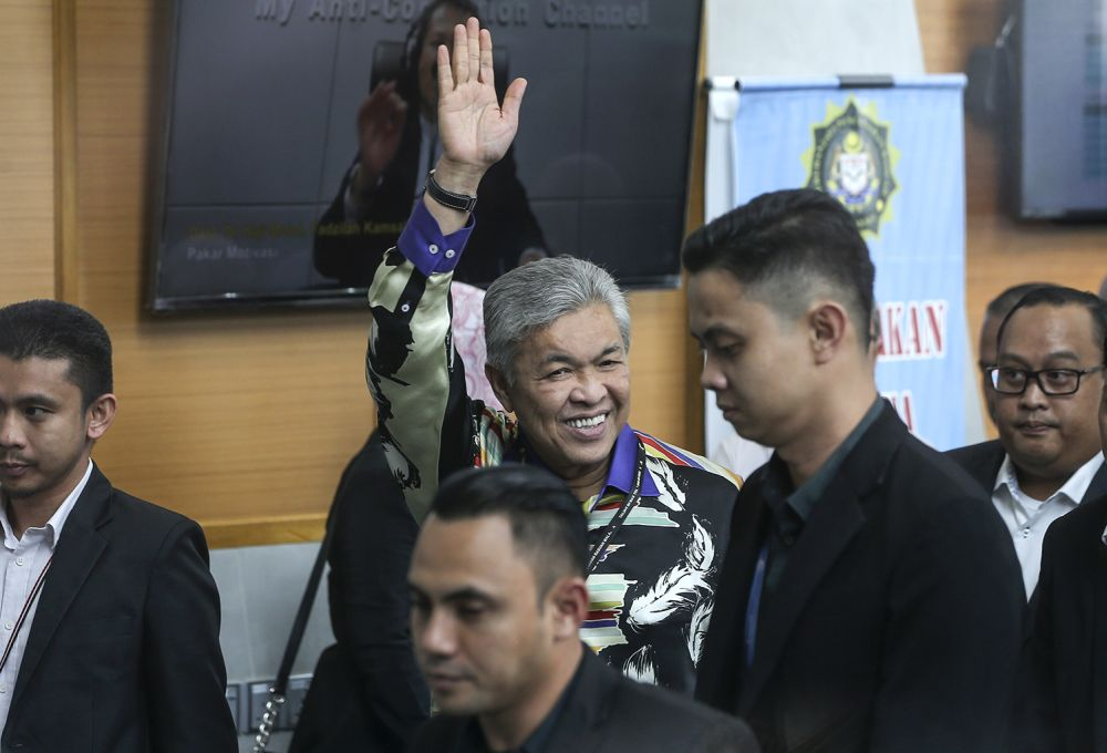 Datuk Seri Ahmad Zahid Hamidi says recent earthquake in Indonesia was caused by the LGBT activities in the country. — Picture by Azneal Ishak