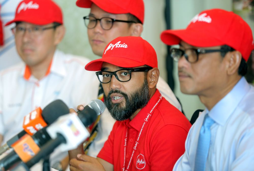 AirAsia chief operating officer Riad Asmat said all the planes will be equipped with Inmarsat's high-speed broadband network, Ka-band known as GX Aviation. — Picture by Farhan Najib
