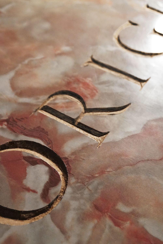 'ORiginal' by NOWORNEVER design features extraordinary hand stencilling.