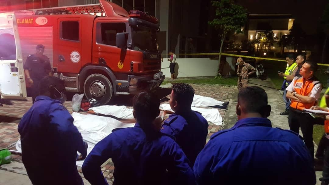 Six firemen perished while on a search and rescue operation for a teenager who had drowned earlier in a mine in Cyberjaya. — Picture via Facebook