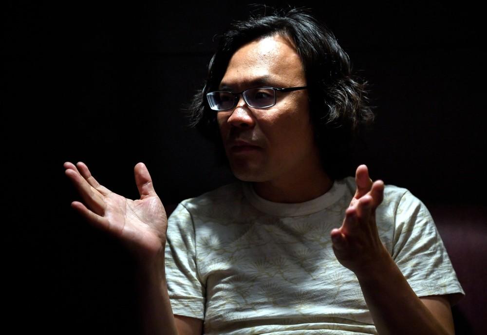 Film director Lim Kah Wai, who runs a production company in Japan, speaking at Golden Screen Cinemas (GSC) in Kuala Lumpur September 7, 2018. — Bernama pic