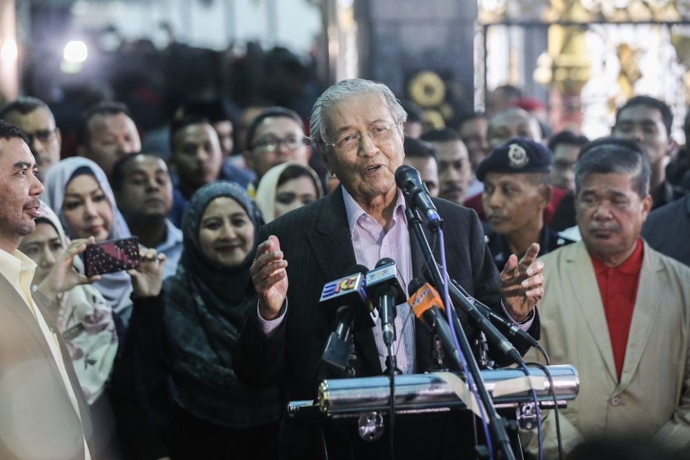 Mahathir said Putrajaya's priority is to now create more jobs at all levels for Malaysians. — Picture by Hari Anggara