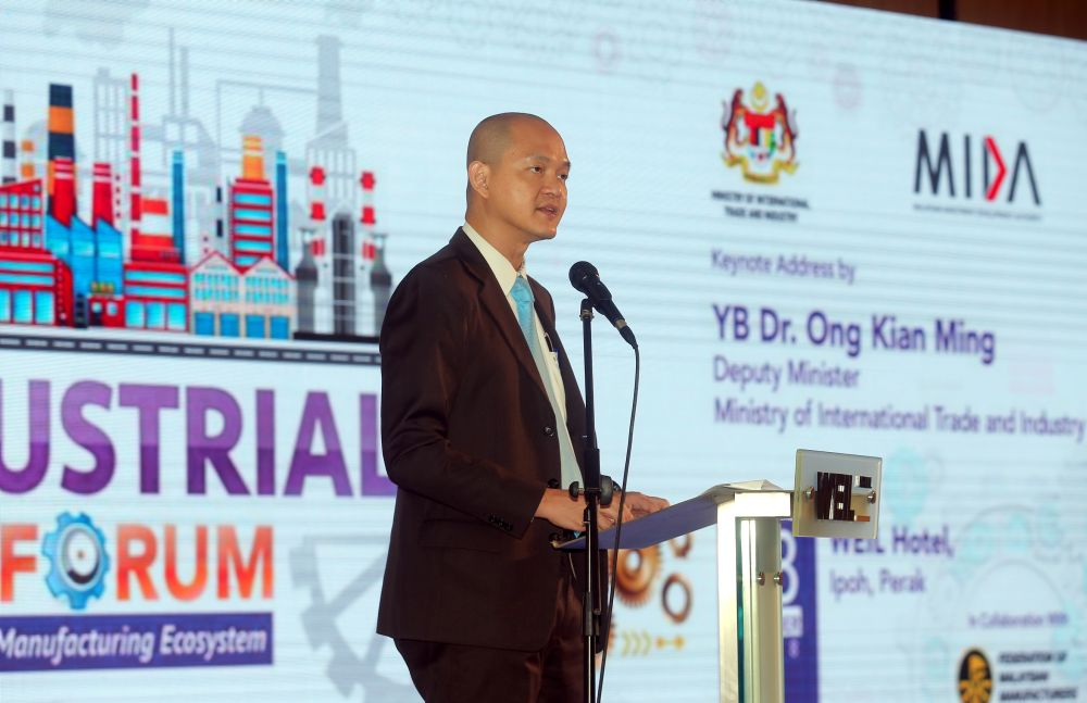 Ong said Dyson's electric car factory in Singapore could benefit Malaysian companies by offering them participation opportunities in the value chain. — Picture by Farhan Najib