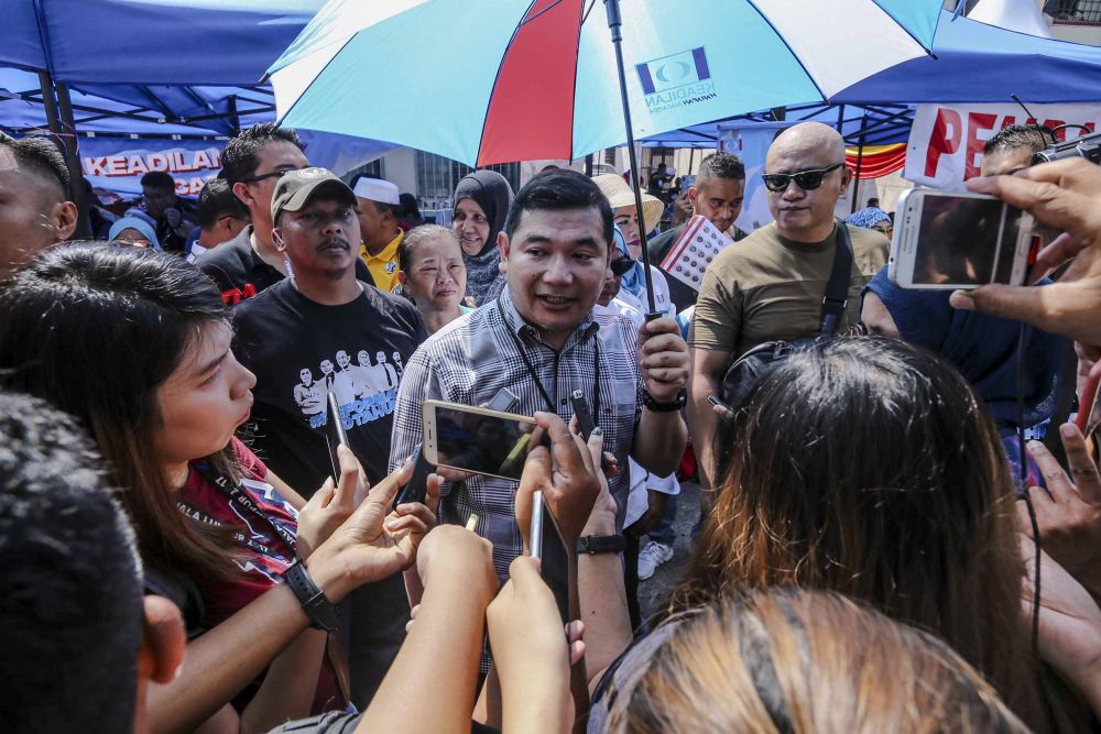 Rafizi said he was not interested in getting back into active politics for now. — Picture by Firdaus Latif
