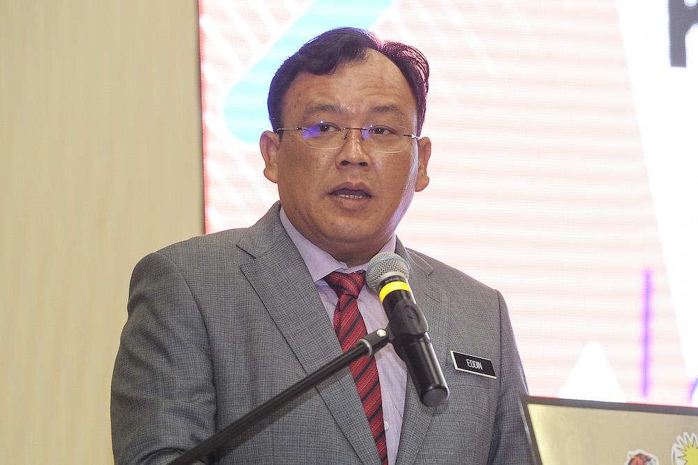 Deputy minister of communication and multimedia, Eddin Syazlee Shith in Putrajaya November 7, 2018. — Picture by Shafwan Zaidon