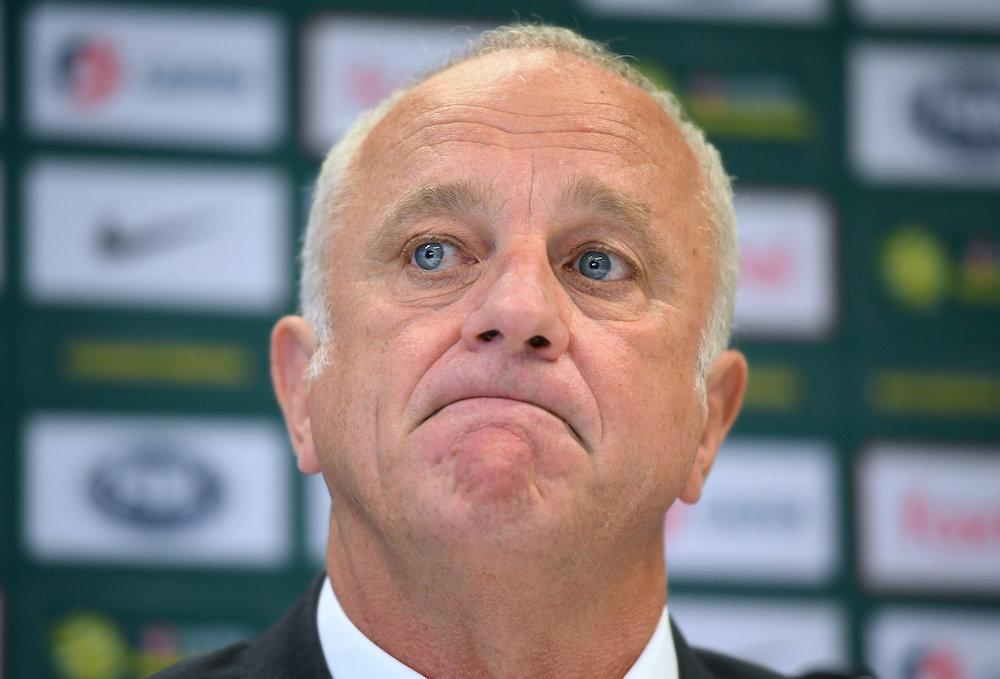 Australia football team coach Graham Arnold said his team felt entirely at ease in the Asian competition. — AAP/Joel Carrett handout via Reuters