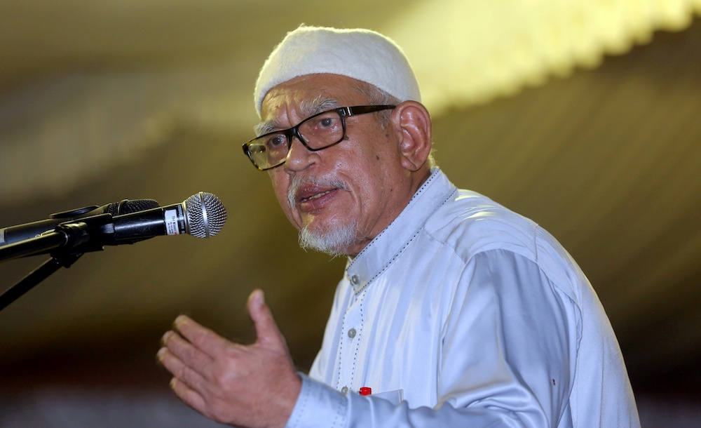 Hadi cited the likes Adolf Hitler, Benito Mussolini as those who were appointed to positions of power based on their 'fiery oratory skills and not degrees'. — Picture by Farhan Najib