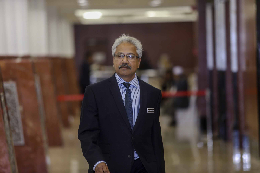Senator P. Waytha Moorthy is seen at Parliament, Kuala Lumpur November 19, 2018. — Picture by Firdaus Latif