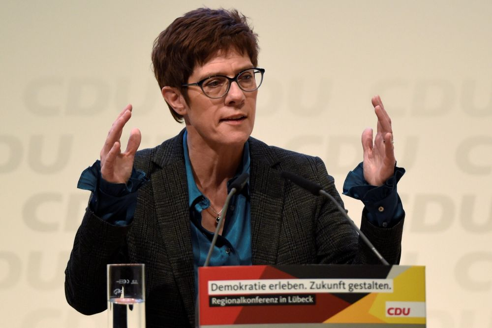 Annegret Kramp-Karrenbauer repeated her proposal to set up safety zones in north Syria for civilians. ― Reuters pic
