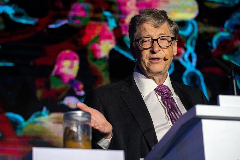Gates, who made a fortune from Microsoft, has since given US$36 billion to the Bill & Melinda Gates Foundation, which aims to tackle extreme poverty and poor healthcare. — AFP pic