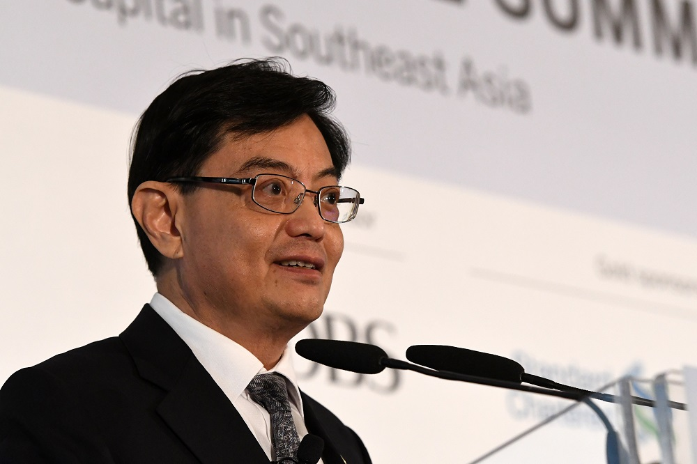 Deputy Prime Minister Heng Swee Keat said the key focus of this round of fiscal measures will be jobs, with S$3.8 billion directed at enhancing the Jobs Support Scheme for the extended circuit breaker period. — AFP pic