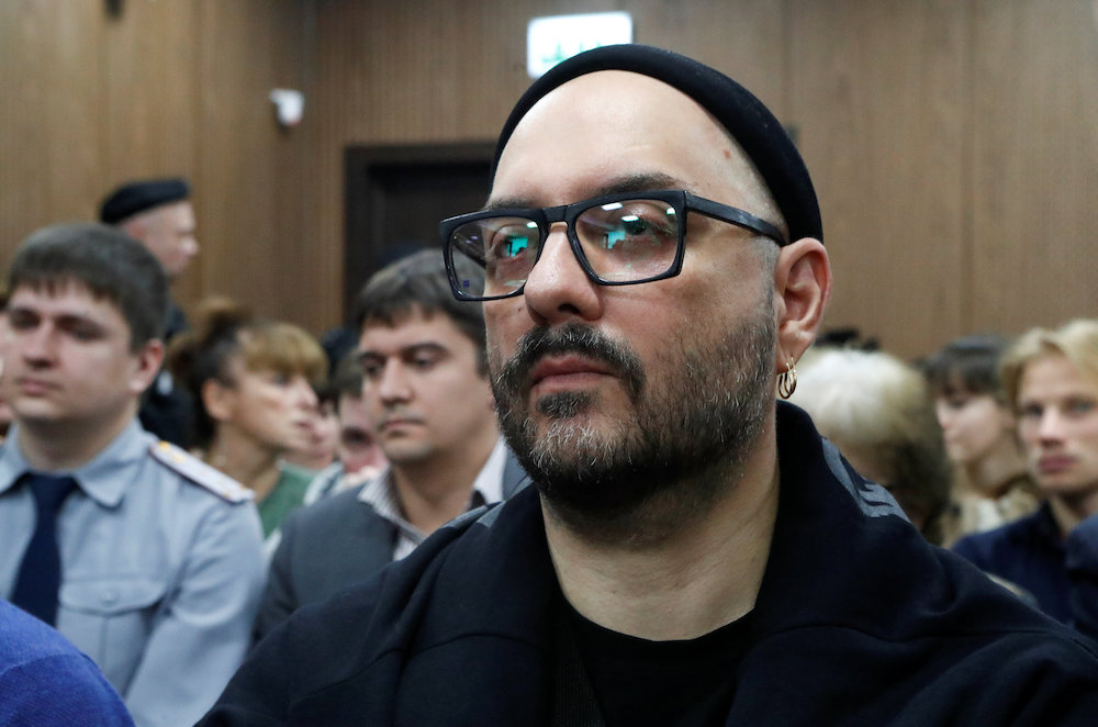 Russian film and theatre director Kirill Serebrennikov has continued working even from detention. — Reuters pic