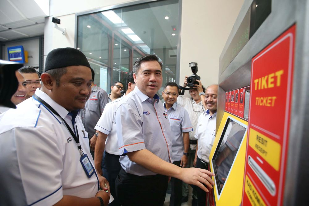 Loke said train rides are currently available to the public for free until December 31. — Picture by Miera Zulyana