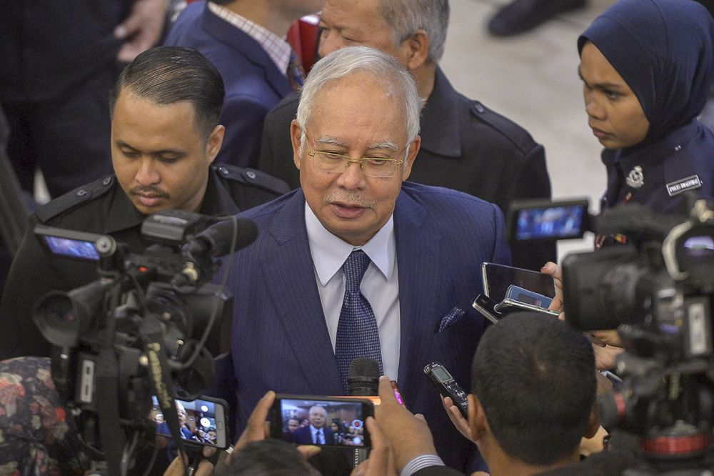 Datuk Seri Najib Razak questioned why the Haparan Coin was allowed to operate a website that is actively soliciting interest when authorities have yet to announce any approval. — Picture by Mukhriz Hazim