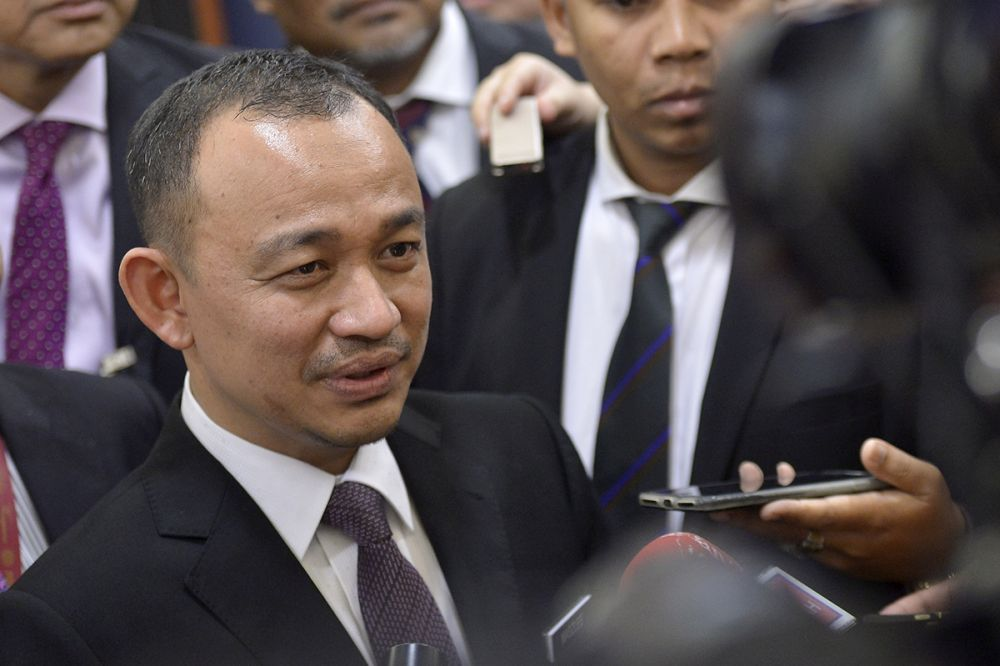 Education Minister Maszlee Malik speaks to reporters at Parliament in Kuala Lumpur November 2, 2018. — Picture by Mukhriz Hazim