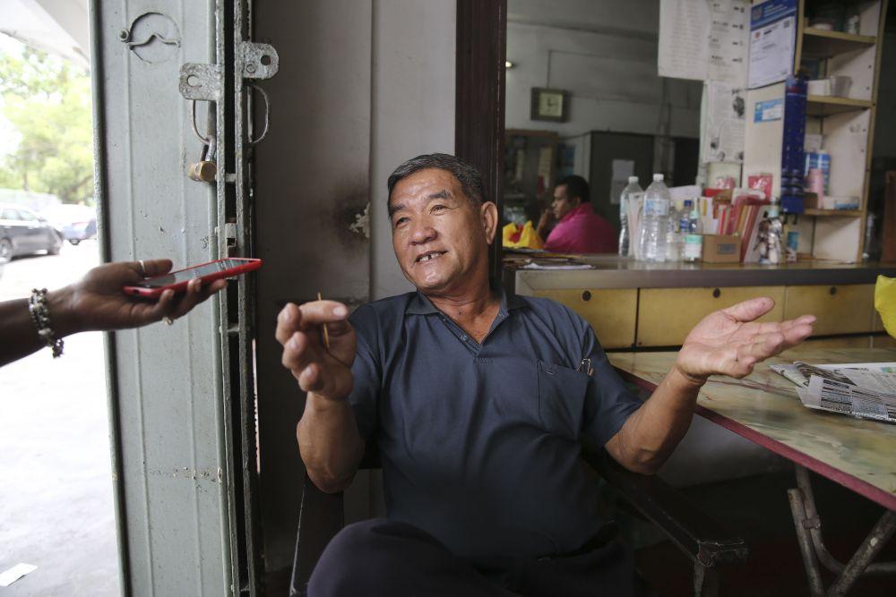 Ng Ket Leng, 69, speaks to Malay Mail during an interview in Subang November 12, 2018.