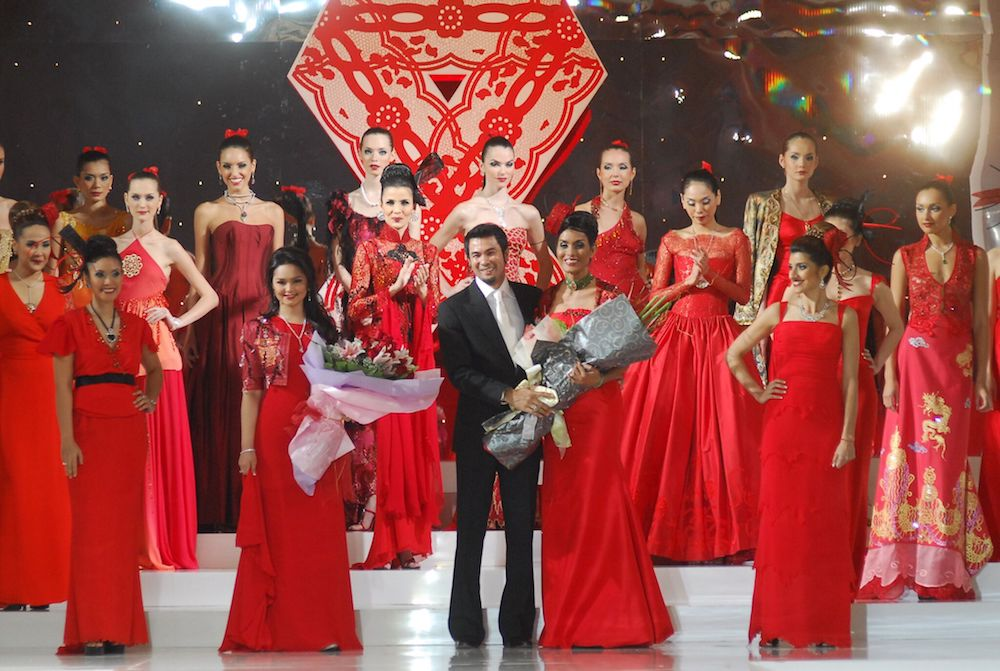 Datuk Bernard Chandran shows off his creations at the 2006 event. — Picture courtesy of MAF