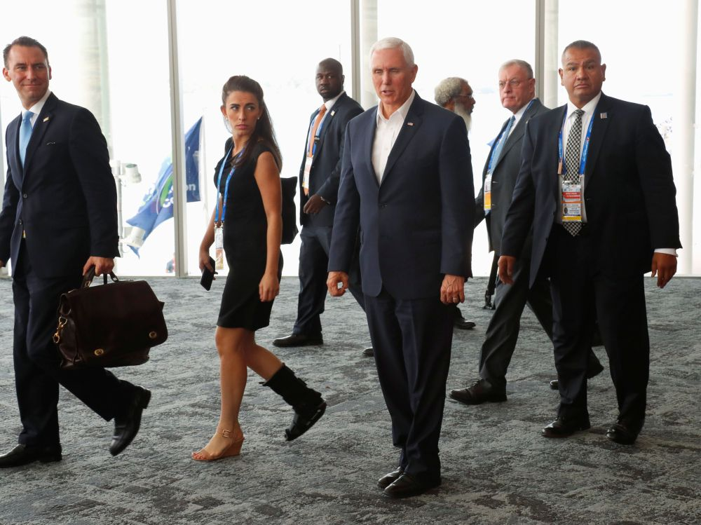 US Vice President Mike Pence at the APEC Summit in Port Moresby in Papua New Guinea November 18, 2018. ― Reuters pic