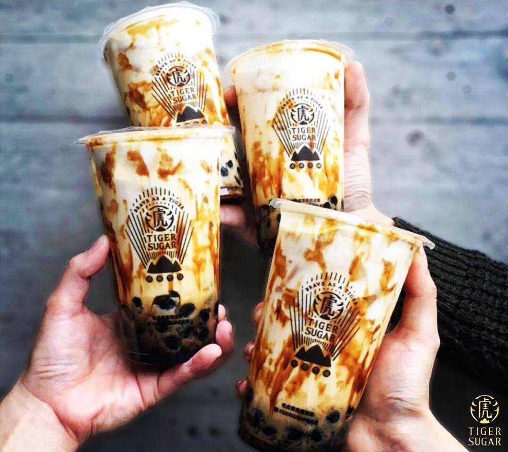 The special syrup creates a tiger stripe effect — Pictures courtesy of Tiger Sugar Malaysia Facebook