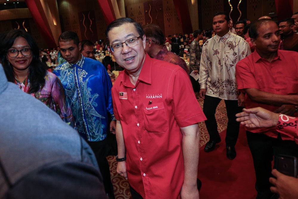 Lim said Pakatan Harapan is the only political coalition that can represent all Malaysians currently. — Picture by Hari Anggara.