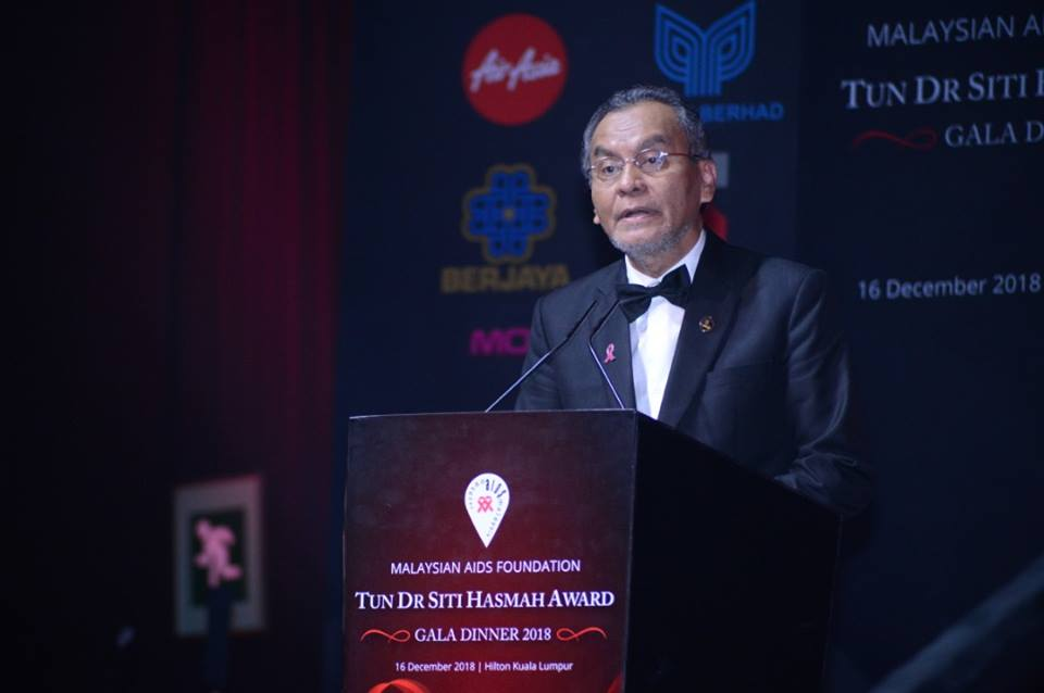 Health Minister Datuk Seri Dzulkefly Ahmad delivered the speech on behalf of the Prime Minister. — Facebook/Malaysian AIDS Foundation