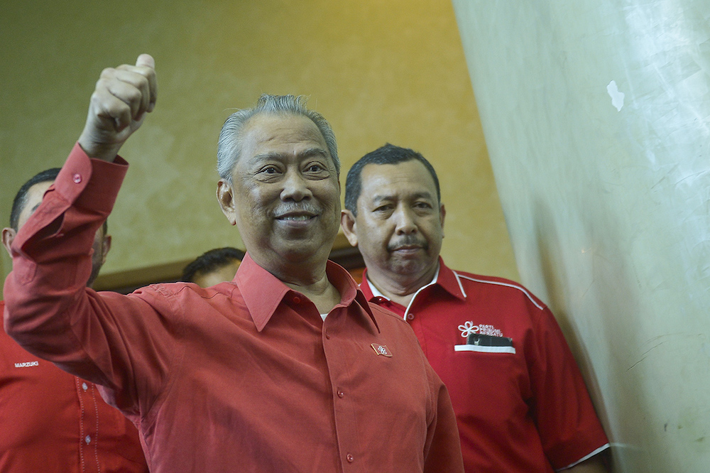 Parti Pribumi Bersatu Malaysia (PPBM) president Tan Sri Muhyiddin Yassin has declared himself as acting chairman of the party. — Picture by Mukhriz Hazim